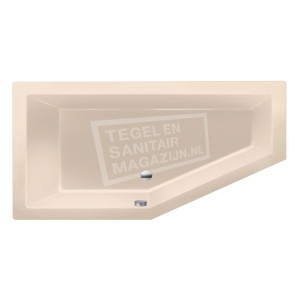 Xenz Society 160 ruimte besparend bad 160x90 cm Links 280L Creme mat