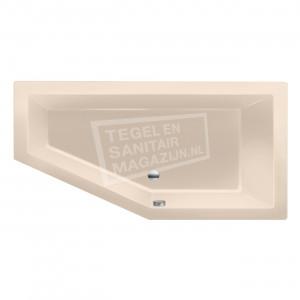 Xenz Society 160 ruimte besparend bad 160x90 cm Rechts 280L Creme mat