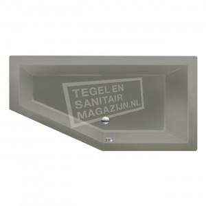 Xenz Society 160 ruimte besparend bad 160x90 cm Rechts 280L Cement mat