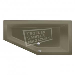 Xenz Society 160 ruimte besparend bad 160x90 cm Rechts 280L Klei mat