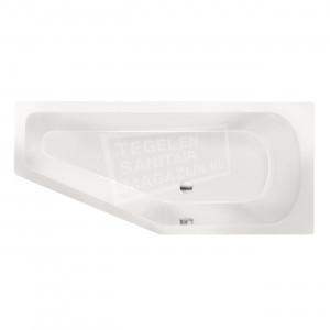 Xenz Lagoon Compact 160x75 cm ruimte besparend bad rechts Wit glans