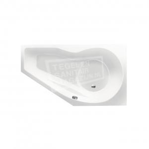 Xenz Fiji 160x90 cm ruimte besparend bad rechts Wit glans