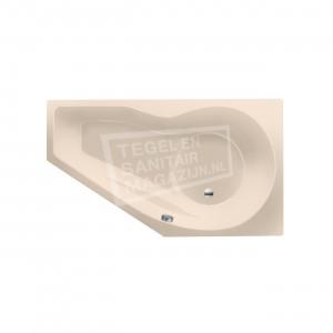 Xenz Fiji 160x90 cm ruimte besparend bad rechts Creme mat