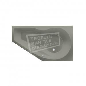 Xenz Fiji 160x90 cm ruimte besparend bad rechts Cement mat