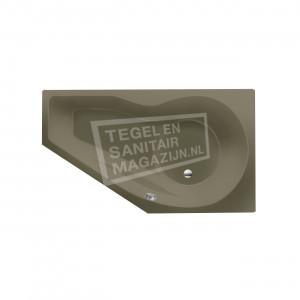 Xenz Fiji 160x90 cm ruimte besparend bad rechts Klei mat