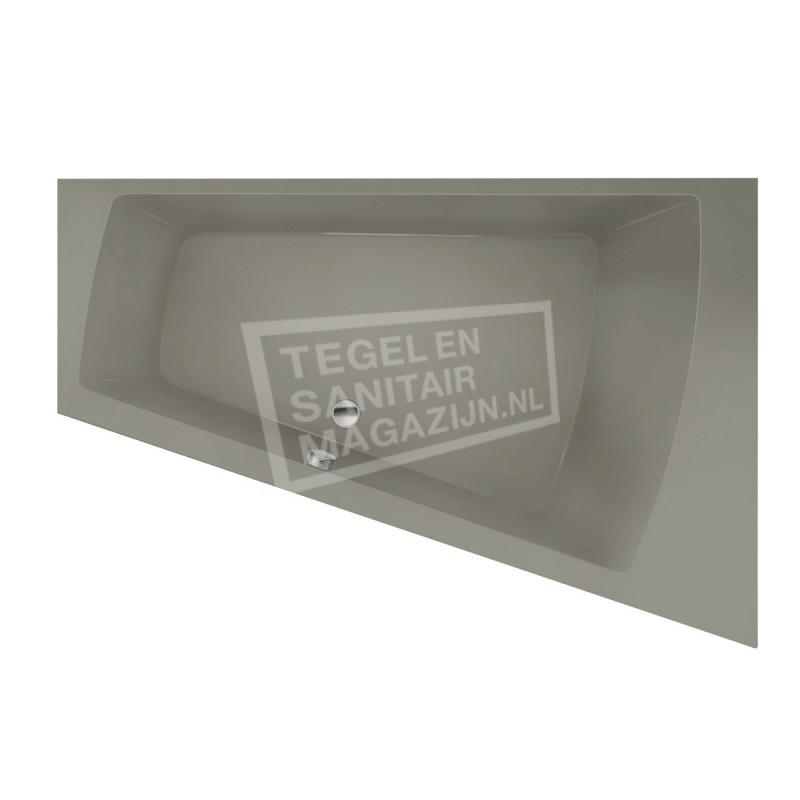 Xenz Palau 170x110 cm ligbad 195L rechts Cement mat