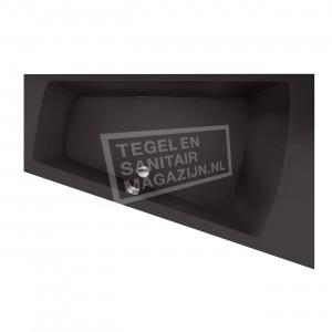 Xenz Palau 170x110 cm ligbad 195L rechts Antraciet mat
