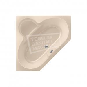 Xenz Borneo 140x140 cm hoekbad 285L Creme mat