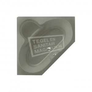 Xenz Borneo 140x140 cm hoekbad 285L Cement mat