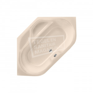 Xenz New Guinea 140x140 hoekbad 270L Creme mat