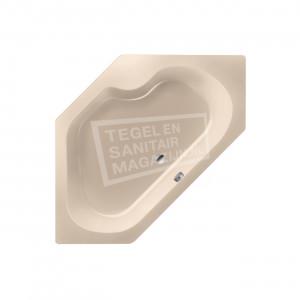 Xenz Menorca 145x145 cm hoekbad 380L Creme mat