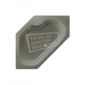 Xenz Menorca 145x145 cm hoekbad 380L Cement mat