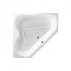 Xenz Cyprus 145x145 hoekbad 420L Wit glans