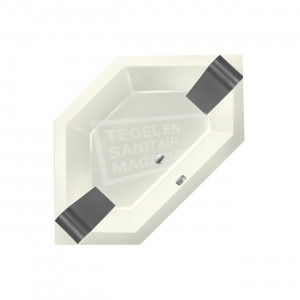 Xenz Society 145 hoekbad 145x145 cm 380L Edelweiss mat