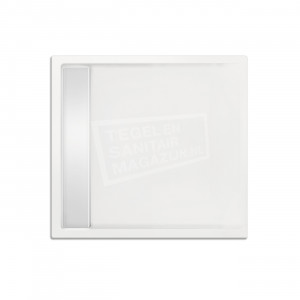 Xenz Easytray 80x80x5 cm acryl zelfdragende douchebak incl. gootcover wit glans