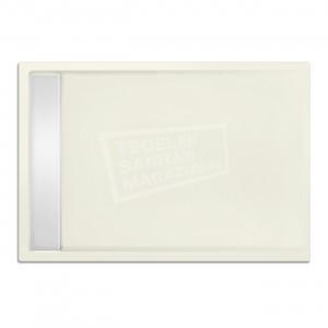 Xenz Easytray 90x80x5 cm acryl zelfdragende douchebak incl. gootcover edelweiss mat