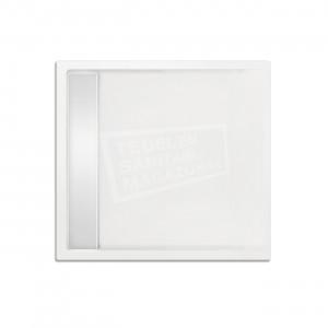 Xenz Easytray 90x90x5 cm acryl zelfdragende douchebak incl. gootcover wit glans