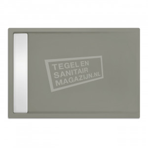 Xenz Easytray 100x80x5 cm acryl zelfdragende douchebak incl. gootcover cement mat