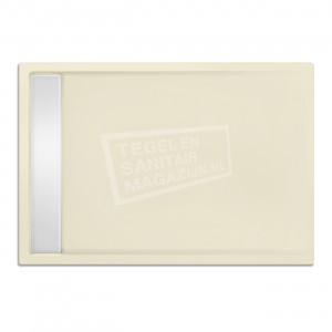 Xenz Easytray 100x80x5 cm acryl zelfdragende douchebak incl. gootcover pergamon glans