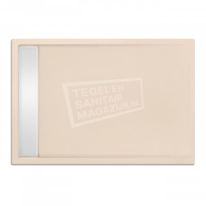 Xenz Easytray 100x90x5 cm acryl zelfdragende douchebak incl. gootcover creme mat