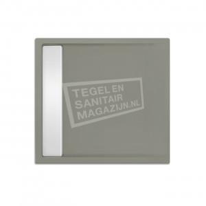 Xenz Easytray 100x100x5 cm acryl zelfdragende douchebak incl. gootcover cement mat