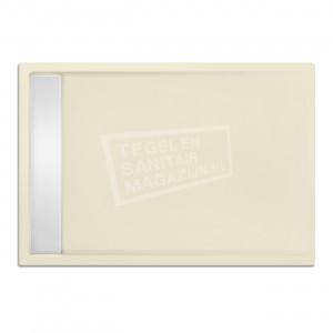 Xenz Easytray 120x80x5 cm acryl zelfdragende douchebak incl. gootcover pergamon glans