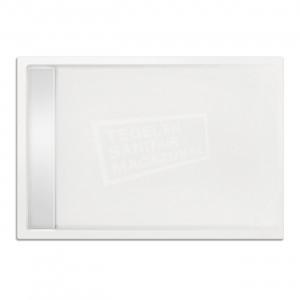 Xenz Easytray 140x90x5 cm acryl zelfdragende douchebak incl. gootcover wit glans