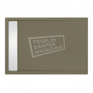 Xenz Easytray 170x90x5 cm acryl zelfdragende douchebak incl. gootcover klei mat