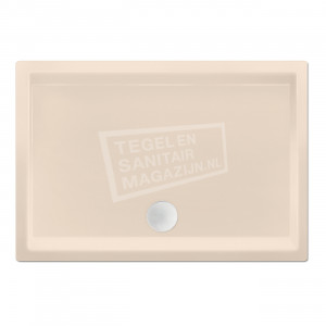 Xenz Society 90x80x12 cm douchebak acryl creme mat