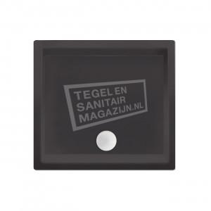 Xenz Society 90x90x12 cm douchebak acryl antraciet mat