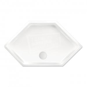 Xenz Honolulu 100x100x4 cm zeshoekige douchebak acryl wit glans