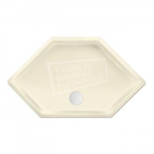 Xenz Honolulu 100x100x4 cm zeshoekige douchebak acryl pergamon glans