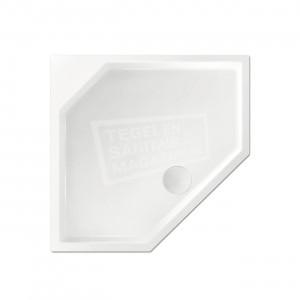 Xenz Marshall 90x80x4 cm vijfhoekige douchebak acryl wit glans