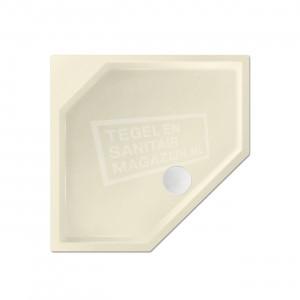 Xenz Marshall 90x80x4 cm vijfhoekige douchebak acryl pergamon glans