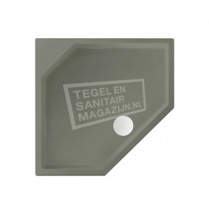 Xenz Marshall 80x90x4 cm vijfhoekige douchebak acryl cement mat