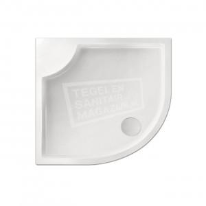 Xenz Bounty 90x80x4 cm douchebak kwartrond acryl wit glans