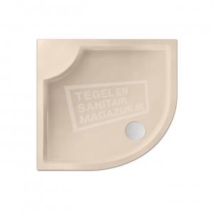 Xenz Bounty 90x80x4 cm douchebak kwartrond acryl creme mat