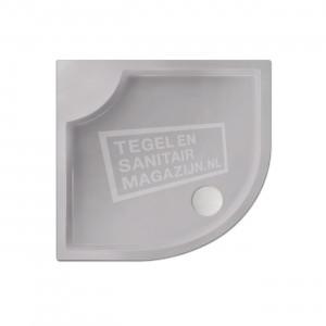 Xenz Bounty 90x80x4 cm douchebak kwartrond acryl manhatten glans