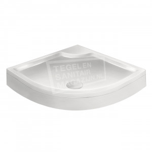 Xenz Bounty Cocos douchebak 90x90x19 cm met voorpaneel wit glans