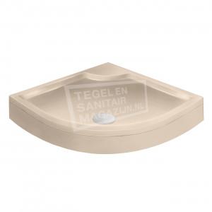 Xenz Bounty Cocos douchebak 100x100x19 cm met voorpaneel creme mat