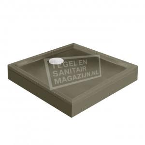 Xenz Mariana 90x90x14 cm douchebak met voorpaneel klei mat