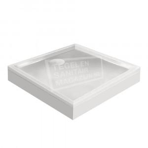 Xenz Mariana 100x100x14 cm douchebak met voorpaneel wit glans