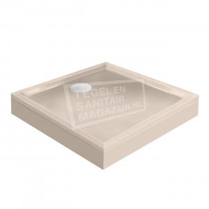 Xenz Mariana 100x100x14 cm douchebak met voorpaneel creme mat
