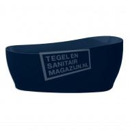 Xenz Isa 180x85x62/76 cm vrijstaand bad donker blauw glans