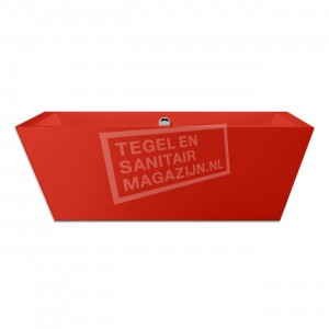 Xenz Donna 180x80x60 cm vrijstaand bad burgundy rood glans