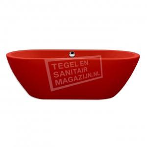 Xenz Rens 155x75x60 cm vrijstaand bad burgundy rood glans