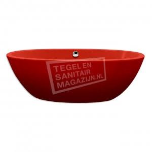 Xenz Britt 190x94x60 cm vrijstaand bad burgundy rood glans