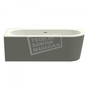 Xenz Charley hoek 180x80x60 cm semi vrijstaand bad rechts edelweiss en cement