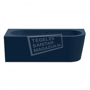 Xenz Charley hoek 180x80x60 cm semi vrijstaand bad rechts donker blauw glans