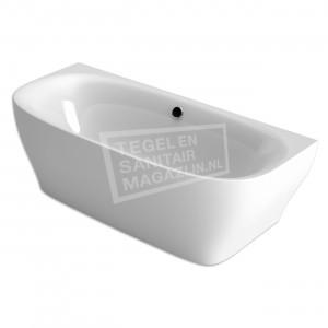 Xenz Dion 180x80x60 cm semi vrijstaand bad wit glans